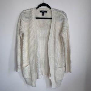 Forever 21 White Knit Cardigan